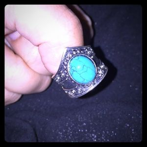 Jewelry - Ring with blue stone.